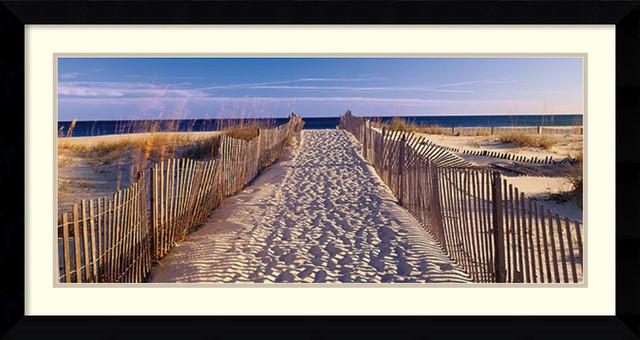 joseph sohm pathway to the beach framed art print 43x23 artwork