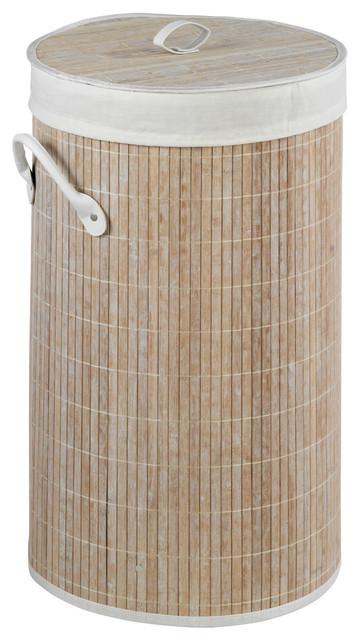 Bamboo Laundry Basket, White.