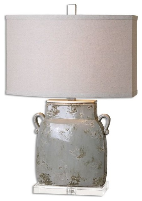 Jim Parsons Melizzano Ivory Gray Glaze Ivory-Gray Table Lamp With 1 Light 150w.