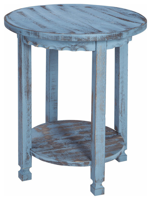 Country Cottage Round End Table Farmhouse Side Tables And End Tables By Bolton Furniture Inc