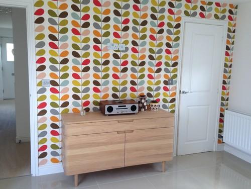 Kitchen Tiles John Lewis orla kiely wallpaper and john lewis mira sideboard
