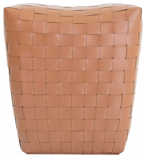 Saddle Leather Pouf - Contemporary - Floor Pillows And Poufs - New York - by Orchids America