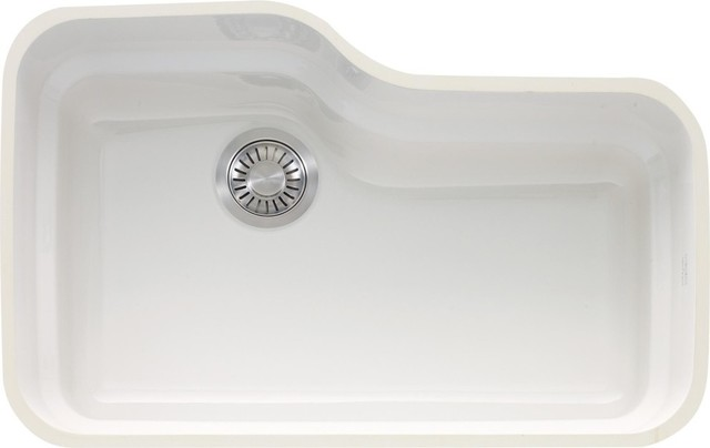 Franke Ork110wh Orca Single Basin Undermount Fireclay Kitchen Sink