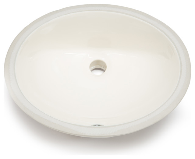 Hahn Ceramic Small Oval Bathroom Bowl UM, Bisque Bathroom Sinks