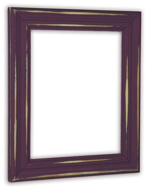 Distressed Plum Picture Frame, Solid Wood - Rustic - Picture Frames ...