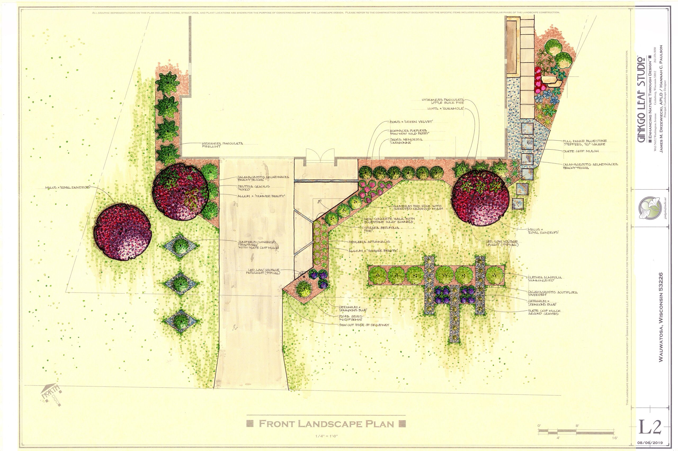 Mid century Griebe Landscape Makeover - Wauwatosa