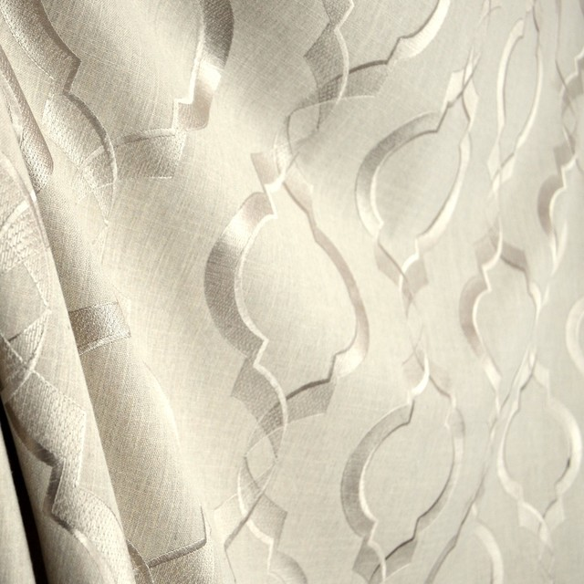 Sweep Linen Embroidered Swavelle Trellis Silky Smooth Fabric Sample
