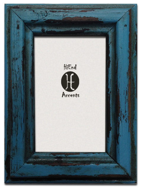 Painted Distressed Wood Frame - Southwestern - Picture Frames - by ...