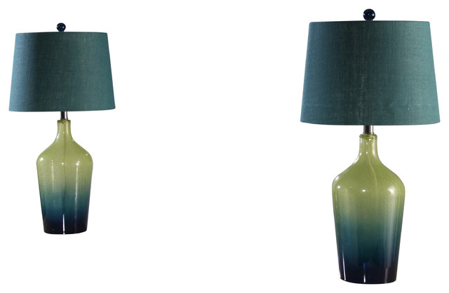Colorful Gems Ombre Table Lamps, Set Of 2.