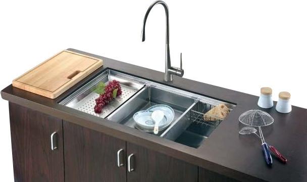 Dawn Sru311710 33 Inch Single Bowl Undermount 18 Gauge Stainless Steel Kitchen S Contemporary Kitchen