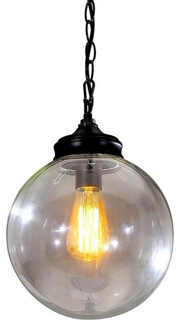 Modern Industrial Round Clear Glass Pendant Lights Large industrial-pendant -lighting  sc 1 st  Houzz & Modern Industrial Round Clear Glass Pendant Lights - Industrial ... azcodes.com