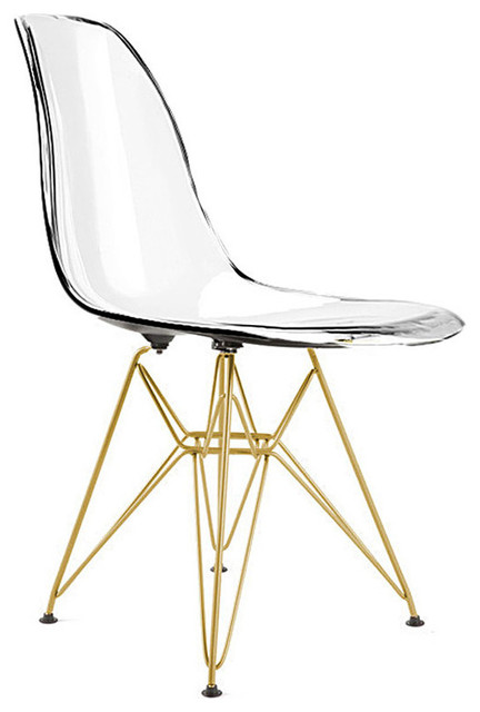 Eiffel Chair With Gold Legs Midcentury Dining Chairs