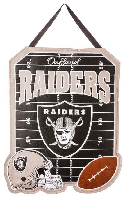 America Oakland Raiders Outdoor Safe Felt Door Decor