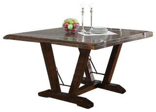 Castlegate gathering table top base kit traditional for Traditional dining table bases