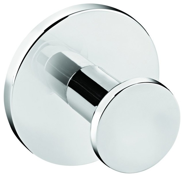 Round Self Adhesive Single Towel Robe Hook Hanger Towel Holder Polished Chrome Contemporary Robe Towel Hooks By Agm Home Store Houzz