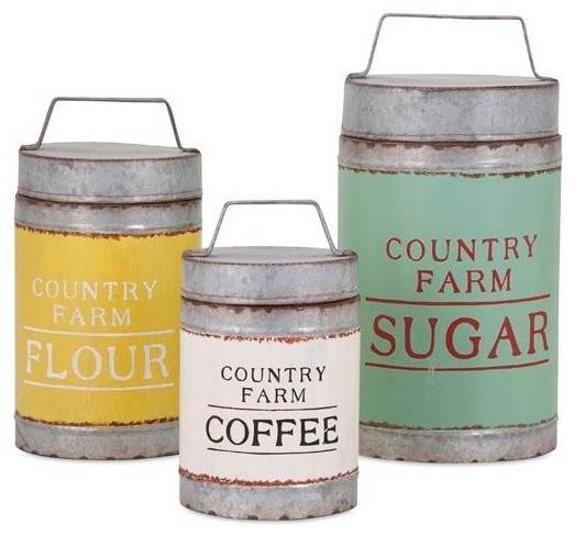 Dairy Barn Decorative Lidded Containers, 3-Piece Set