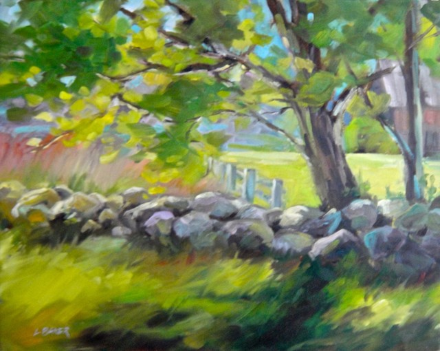 Field Rock Wall Original Painting Contemporary Paintings By Zatista