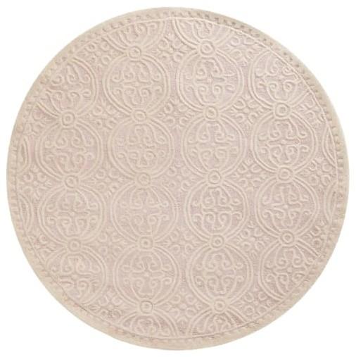 Safavieh Cam123-8r Cambridge 8&x27; Round Wool Hand Tufted Geometric Area Rug.