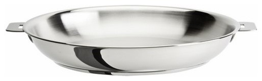 """Cristel Casteline Removable Handle, 9.5"""" Stainless Steel Frying Pan."""