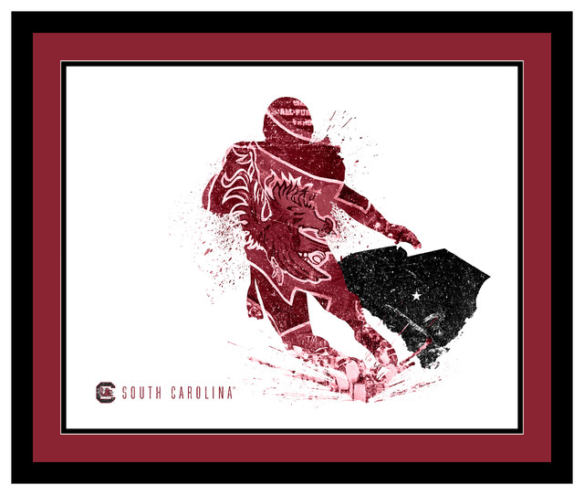 Framed South Carolina Gamecocks Silhouette Art  : contemporary prints and posters from www.houzz.com size 640 x 542 jpeg 83kB