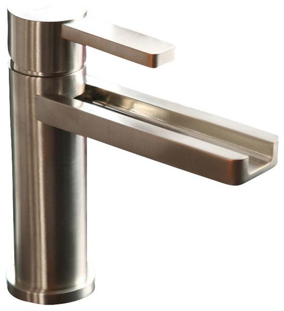 Waterfall ultra modern bathroom faucet modern bathroom for Modern bathroom faucets sale