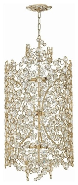 Fredrick Ramond Fr44819 Anya 9 Light 20 Chandelier With Crystal Accents