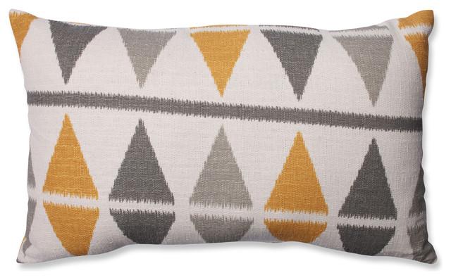 Ikat Argyle Birch Rectangular Throw Pillow.