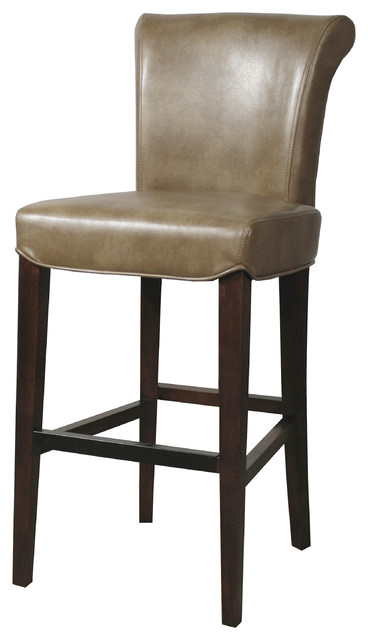 92e56f358b02 Bentley Bonded Leather Bar Stool, Molasses - Transitional - Bar ...