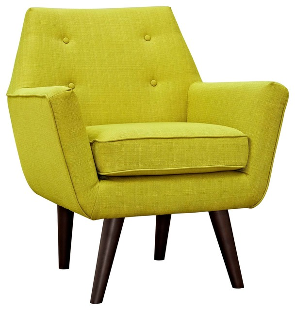 Modern Contemporary Urban Design Living Lounge Room Armchair, Green, Fabric by America Luxury