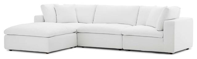 Fine Modern Contemporary Urban Living Sectional Sofa Set White Inzonedesignstudio Interior Chair Design Inzonedesignstudiocom