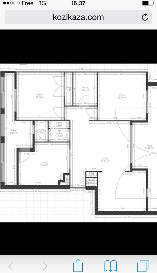 rnovation complete appartement 67m2 marseille - Faire Croquis Appartement Entree Et Salon