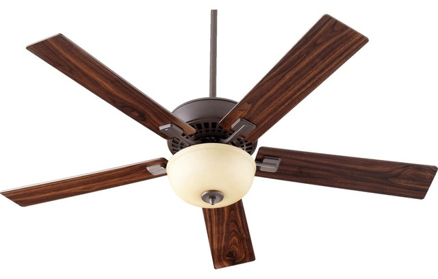 Rothman 52 5-Blade Ceiling Fan With Reversible Walnut/bronze Paddle Blades.