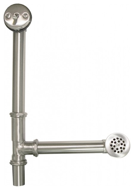 Brushed Nickel Trip Lever Bath Waste U0026 Overflow Transitional Tub And Shower