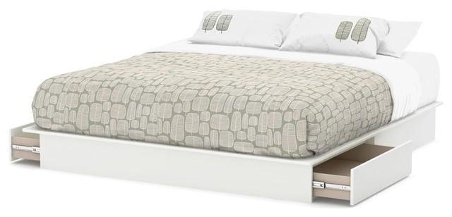 King Size Modern Platform Bed With