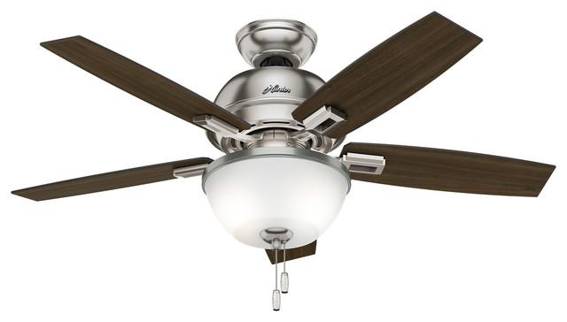 Donegan 2-Light Indoor Ceiling Fans, Brushed Nickel.