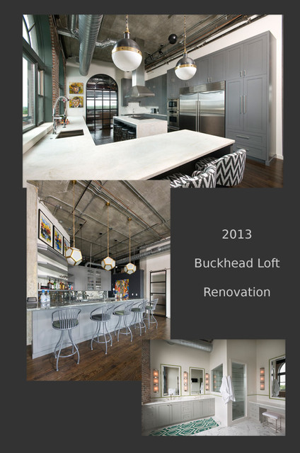 Buckhead Loft Renovation Industrial Kitchen Atlanta