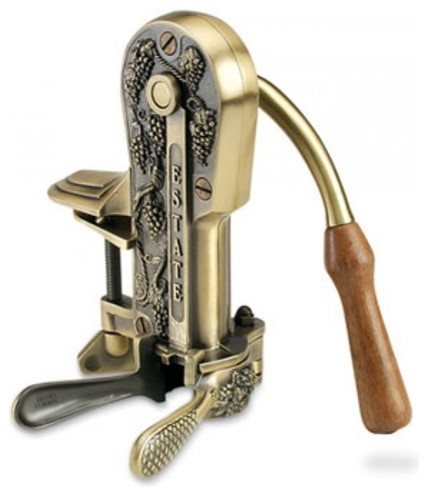 estate set wine bottle bronze with white wave stand - Wine Openers