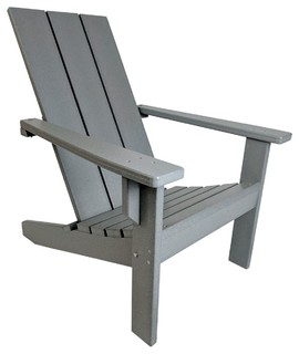 Modern Poly Adirondack Chair - Contemporary - Adirondack Chairs - by Andrew Jones  sc 1 st  Houzz : adirondock chairs - Cheerinfomania.Com