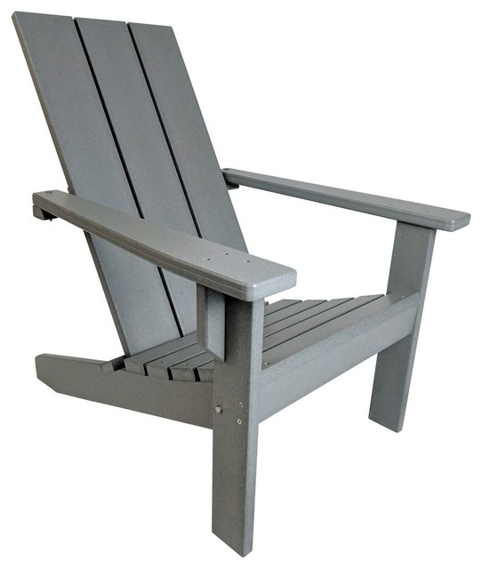 Excellent Modern Poly Adirondack Chair Gray Bralicious Painted Fabric Chair Ideas Braliciousco