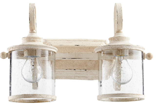San Miguel Bathroom Vanity Lights, Persian White.