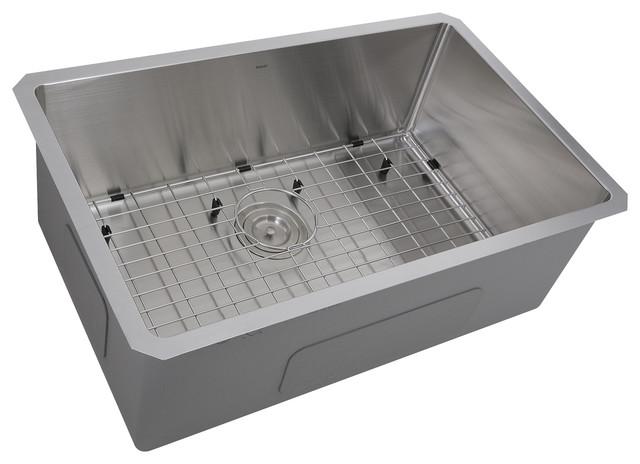 """Nantucket Sinks Pro Series Undermount Kitchen Sink, 16 Gauge, 30""""x18""""10""""."""
