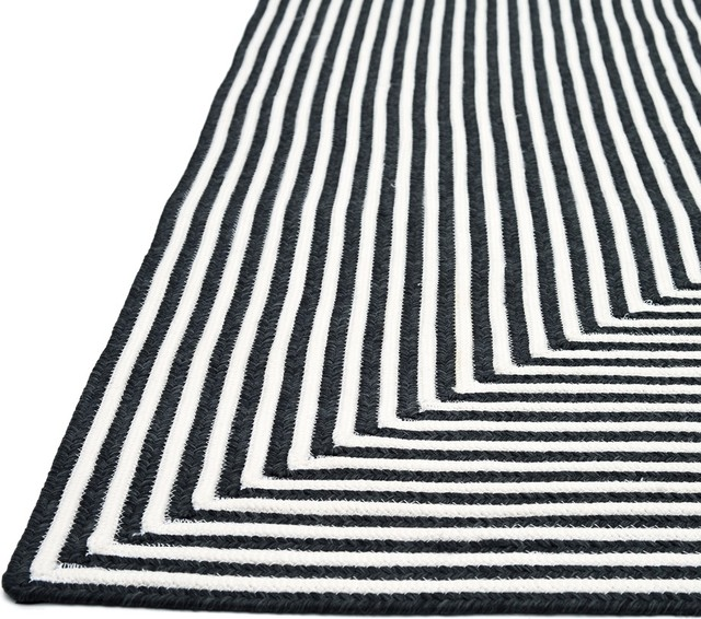 black and white striped outdoor rug - rug designs