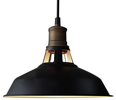 Industrial Metal Pendant Light, Antique Style.