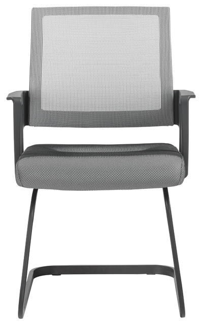 Maska Visitor Chair, Gray/matte Black.