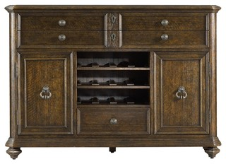 Stanley Furniture Rustica Portfolio Dining Cabinet, Sorrel - Traditional - Buffets And ...