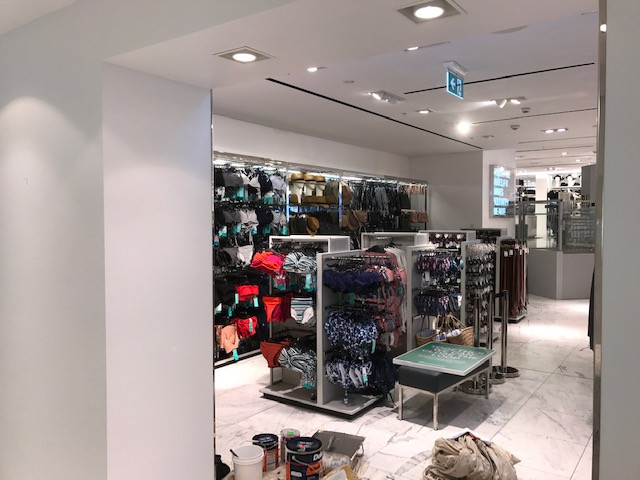 After hours - Commercial Maintenance Painting - fashion retail