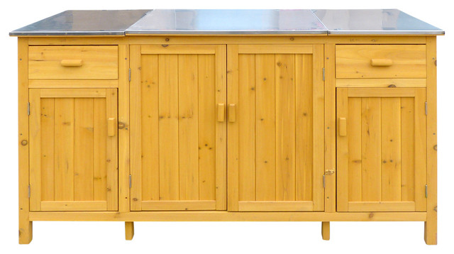 Mason Outdoor Buffet With Cooler Shelf