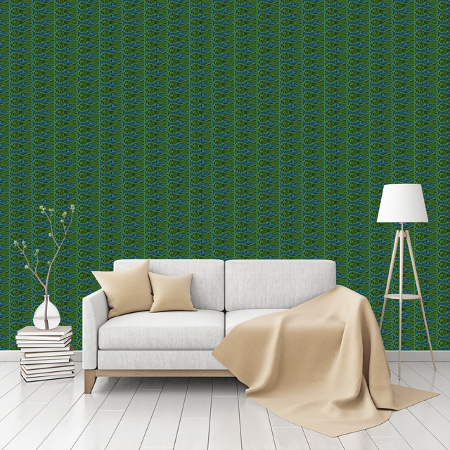 Peel And Stick Textured Wallpaper: Fish Tank Jam Patterned Peel & Stick Textured Wallpaper By