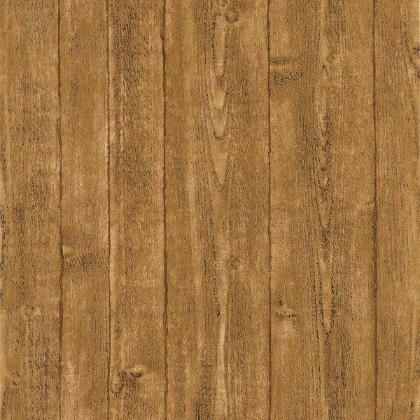 Orchard Brown Wood Panel Wallpaper Swatch