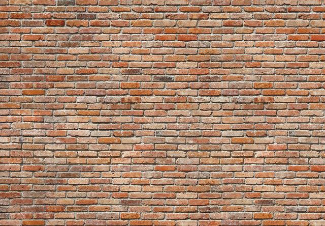 brick feature wall photo wall mural, 368x254 cm - rustic - wall